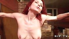 Gorgeous amateur redhead milf hard banged