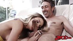 Latina minx Carmen Caliente oralled before big dick pounding