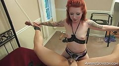 Mistress Eden beats,f ucks and milks marco