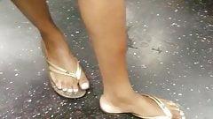 Candid ebony feet with white toe nails pt3 posing