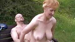 Grandma on Mature hanging tits boobs