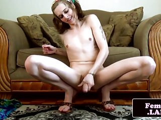 Preview 3 of Tattooed bigcock femboi beauty wanking solo