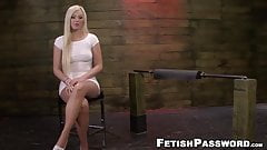 Bound blonde slave Jenna Ivory roughly fucked and dominated