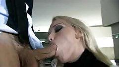 Blonde Hottie Butt Fucked in Garage