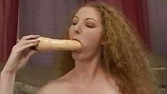 Annie toys her hairy twat