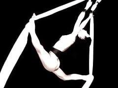 sexy japan lady artistic performance - nude sport art
