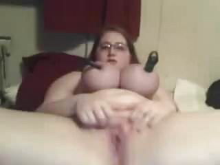 Huge tits BBW Teen masturbates on cam (slow vid, no sound)
