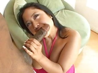 Chunky Asian whore gets doggy fucked by black dick