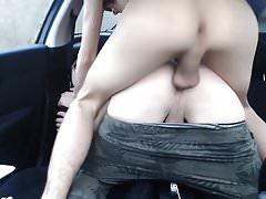 Car Bareback Fuck