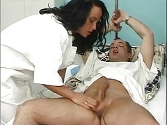Naughty nurse gives a special treatment