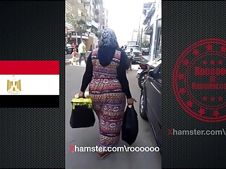 Egyptian big ass in street 2018