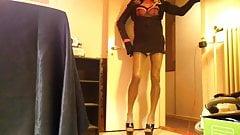 MissJa Naughty Nylon Gurl Jerk feminine stocking Highheels