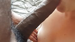 UK married mature sucks 10 inch bbc