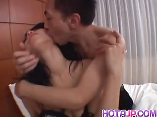 Chris Ozawa moans while getting fucked right