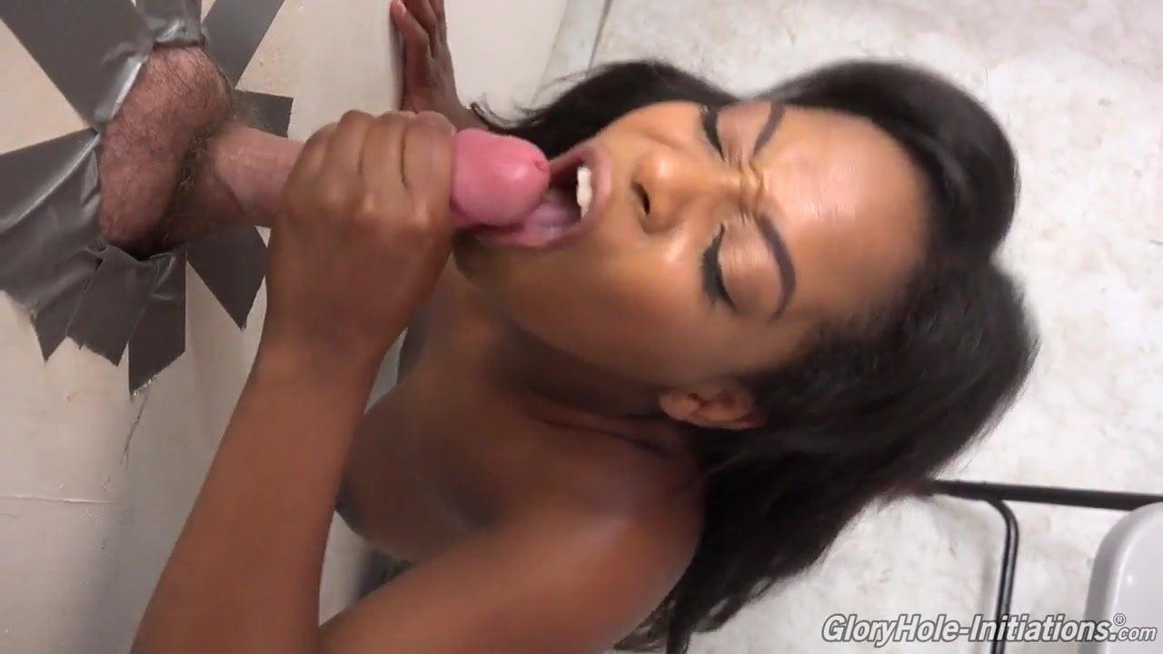 Realblackexposed ebony chick sucks cock in