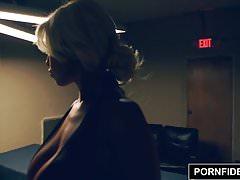 PORNFIDELITY Bridgette B Interrogates A Suspect's Cock