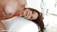 Belle Francys gets her holes filled up with jizz of creampie