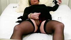 Self-Tied TV Carolyn Cums in Stockings