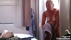 Granny undressed showered and dressed