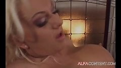 Busty blonde MILF gets her ass pounded