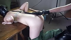 Female Slave In Rubber Waders Get's Fucked