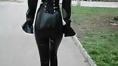 street latex and heels
