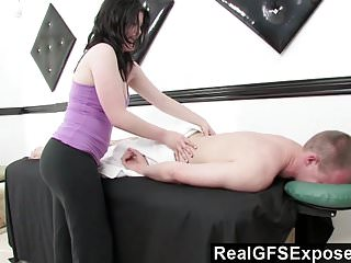 RealGfsExposed - Massaging a handsome stud just gets her too