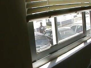 showing my friend in the window