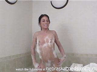 bubble bath wet dildo fuck and blowjob hot black haired iowa
