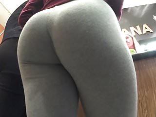 Candid Teen Grey Leggings 27