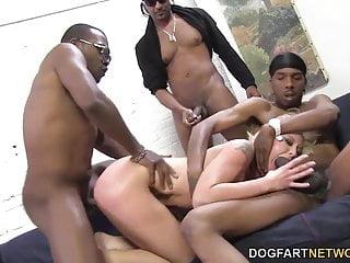 Leya Falcon gets gangbanged by big black cocks