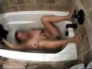 Mature riders tube - My horny mum having fun in bath tube. hidden cam