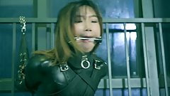 Leather catsuit bondage and gagging Part 2