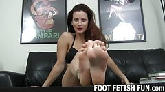 I have decided to let you worship my feet