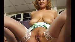 Busty German Milf gets it in her arse