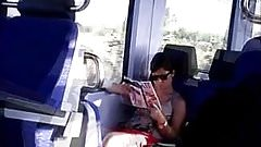 my flashing masturbation in trein