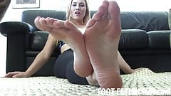 I want to feel your warm tongue on my feet