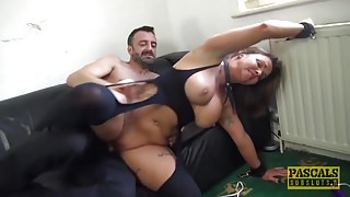 Busty milf Sienna Hudson gets her tight pussy hammered hard