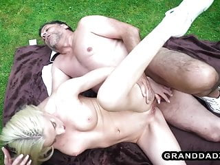 Strong Granddad Fucks Hot Russian Babe In The Park