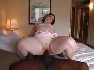 Sexy white wife fucks black stud