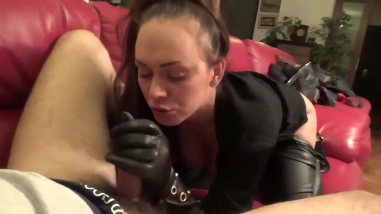 glove blowjob Leather