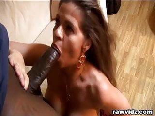 Busty MILF Enjoys Hunk Black Dude's Big Cock