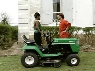 Preview 2 of Sexy Retro Ebony Babe Fucked On The Tractor