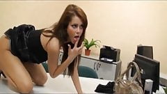 Horny Brunette Gets Anal Fucked by Her Boss