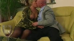 Chubby granny gets pounded in