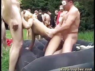 extreme german garden fuck orgy