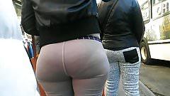 Bubble Ass Milf Vpl in Grey Sweats