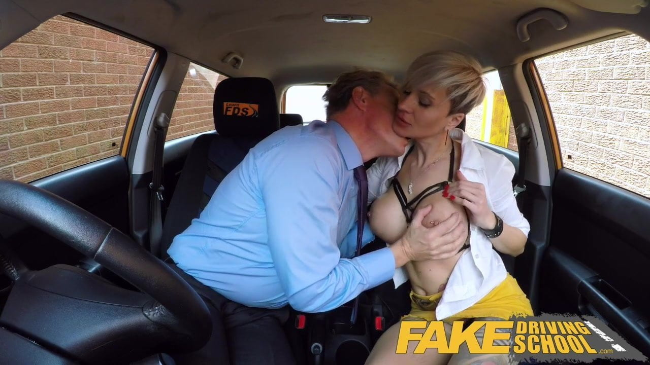 Fake Driving School Boss fucks sexy hot blonde employee