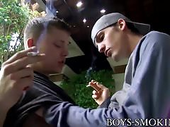 Smoking Micah Andrews loves riding Joey Perelli outdoors
