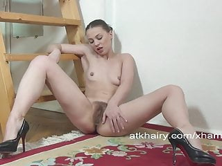 Sexy Russian Alice strips off her uniform